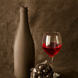 Vintage wine.. by Rakesh Syal - Artistic Objects Still Life