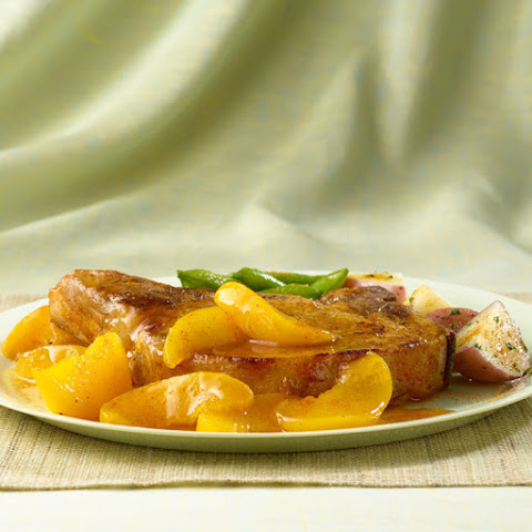 Skillet Pork Chops & Peaches
