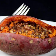 Baked Sweet Potatoes With Brown Sugar-Pecan Butter