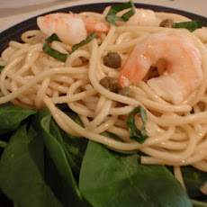 Shrimp and Basil Pasta