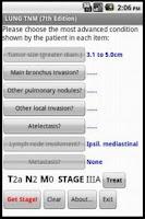 Screenshot of Lung TNM Calc