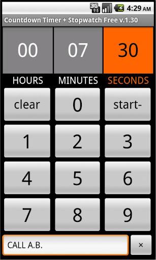 Countdown Timer+Stopwatch Full