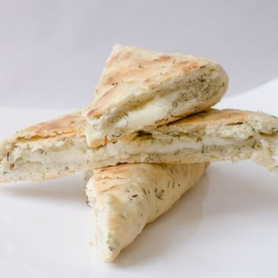 Halloumi-stuffed Olive Oil Flatbread
