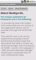 Screenshot of History eBooks
