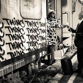 think of me by Vesna Lavrnja - Black & White Portraits & People
