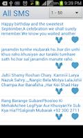 Screenshot of Urdu/Eng Birthday SMS
