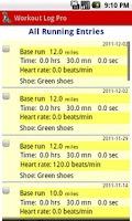 Screenshot of Workout Log Pro