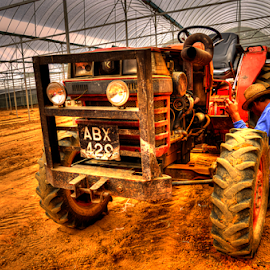Tractor by KIN WAH WONG - People Portraits of Men ( farm, engine, transport, worker, tractor )