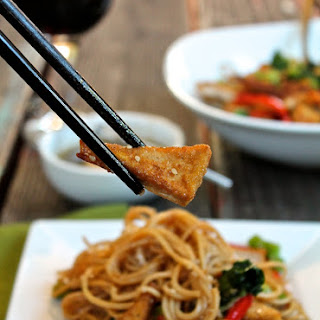 Udon Noodles with Sweet Sesame Ginger Sauce