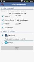 Screenshot of aCar - Car Management, Mileage