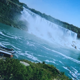Niagara Falls by Linda Hazel - Travel Locations Landmarks ( calming, lovely, breathtaking )