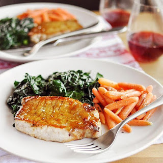 Sage-Brined Pork Chops with Brown Sugar Glaze
