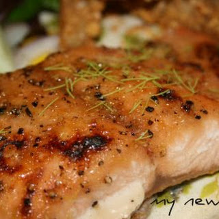 Baked Salmon with Cajun Brown Sugar Citrus Rub