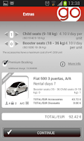 Screenshot of Record Go car hire