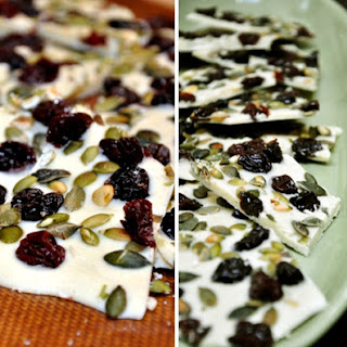 White Chocolate, Cherry & Pumpkin Seed Bark