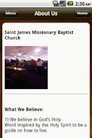 Screenshot of St James Baptist Church