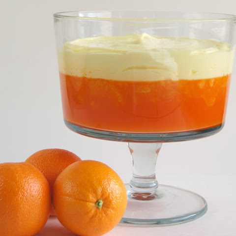 Mandarin Orange Jello with Lemon Pudding