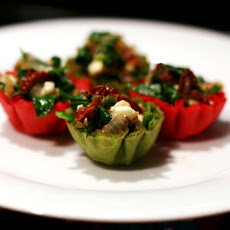 Greek Spinach Salad in Mini Phyllo Cups