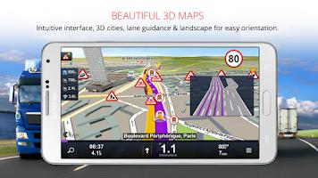Screenshot of Sygic Truck Navigation