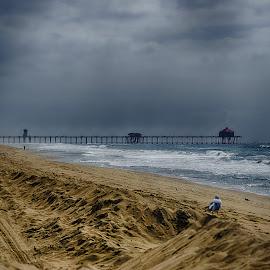 HB Pier North Side by Jose Matutina - Landscapes Beaches ( orange county, california, pier, sea, west coast, ocean, huntington beach,  )