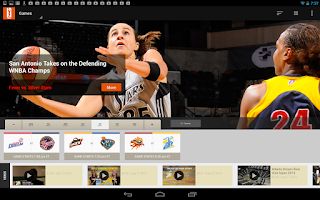 Screenshot of WNBA Center Court