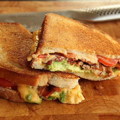 Grilled Cheese with Bacon, Tomato, and Avocado