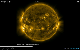 Screenshot of SDO Sun Live Wallpaper