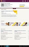 Screenshot of Ashford University Tablet