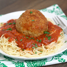 Cheesy Chicken Parm Meatballs