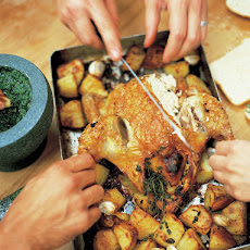 Roast Chicken With Lemon & Rosemary Roast Potatoes
