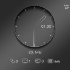 Transparent Clock UCCW skin