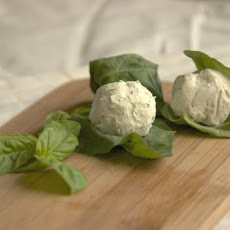 Basil-Wrapped Goat Cheese Recipe