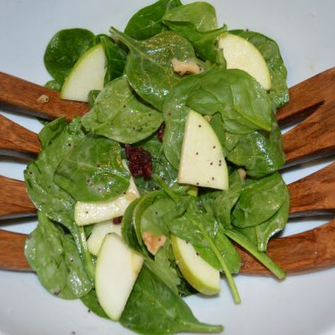 Spinach Salad with Apple, Cranberries, and Walnuts
