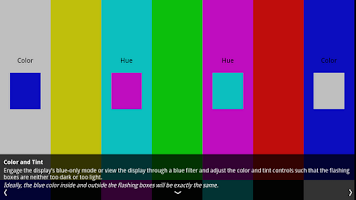 Screenshot of HDTV test