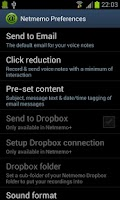 Screenshot of Netmemo Voice Recorder for GTD