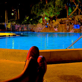 Relaxation by Rohan Bhatia - Novices Only Sports ( water, slipper, blue, pool, relax, swimming )