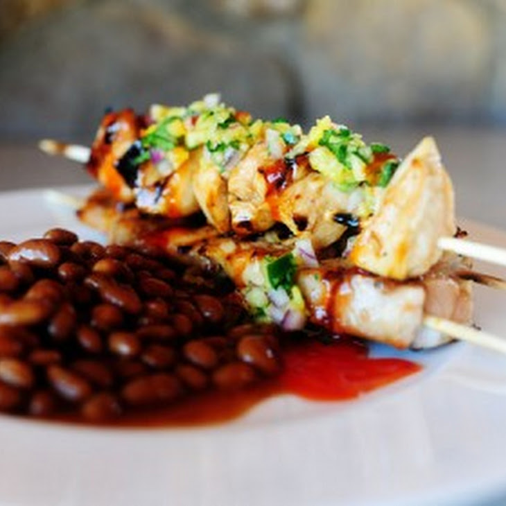 peach skewers sweet and sour grilled swordfish kabobs jalapeno salsa ...