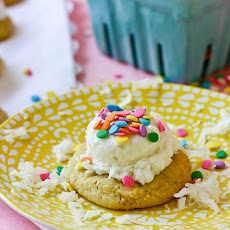 Coconut Cream Sugar Cookies