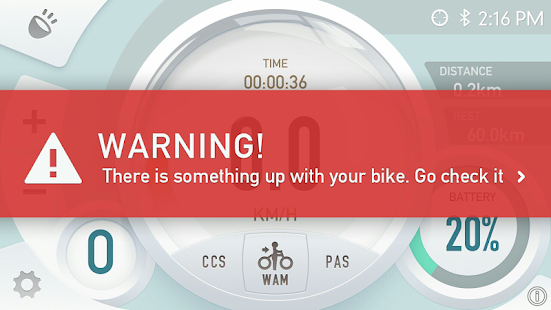 E-bike meter - screenshot