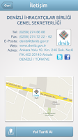 Screenshot of DENİB