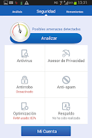 Screenshot of Seguridad Móvil Telcel