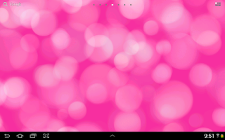 Screenshot of Light Drops Live Wallpaper