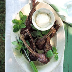 Grilled Lamb Chops With Lemon Yogurt Sauce
