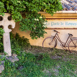 Rennes-le-Chateau by Lee Jorgensen - Transportation Bicycles ( bike, wheels, transportation, country side, bicycle )
