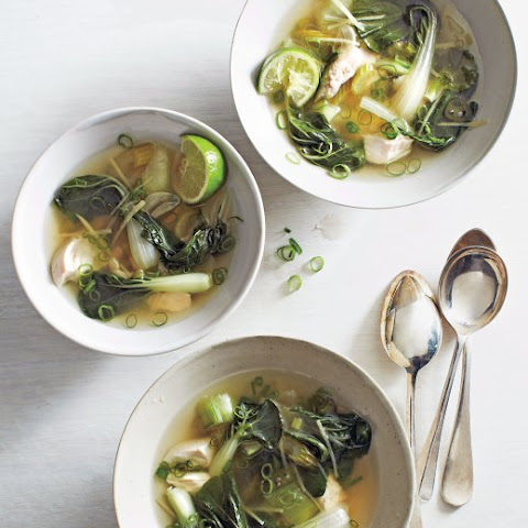 Ginger Chicken Meatballs in Miso Broth {with Bok Choy} Rezept | Yummly