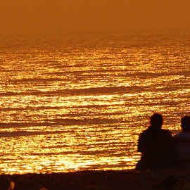Sunset evening lovely Couple by Muralimohan Krishnan - People Couples ( time, sunset, lovely, evening, spending, couples,  )