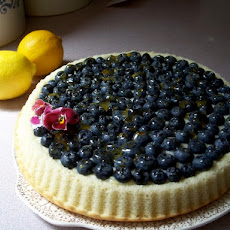 Fresh Blueberries With Mascarpone Cheese and Lemon Curd