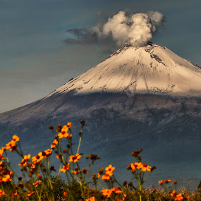 Great Volcano by Alfredo Garciaferro Macchia - Landscapes Mountains & Hills