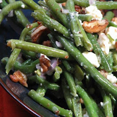 Green Beans, Toasted Pecans, and Blue Cheese