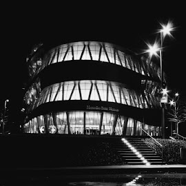 Mercedes Benz Museum by Andy Just Andy - Buildings & Architecture Other Exteriors ( black and white, night, architecture, museum )